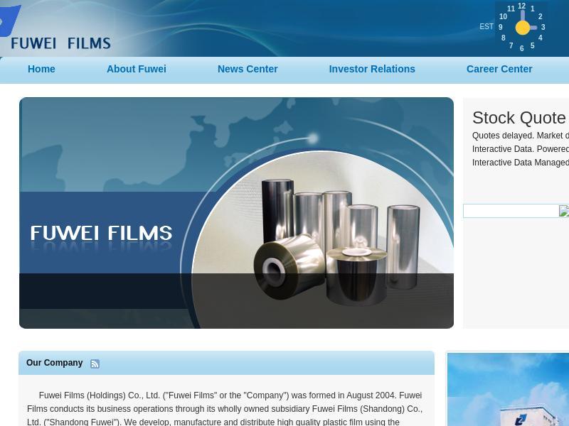 Fuwei Films (Holdings) Co., Ltd. Made Big Gain