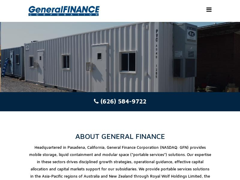 A Day Up For General Finance Corporation