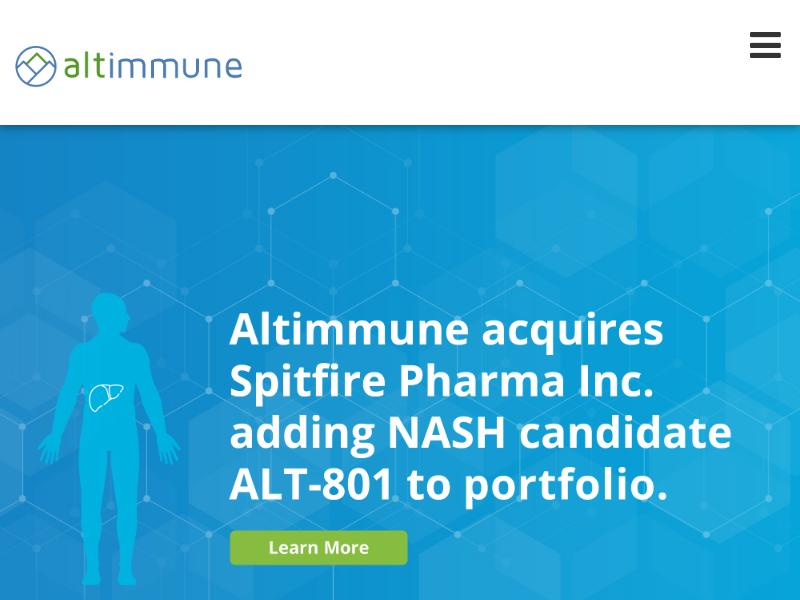 A Day Up For Altimmune, Inc.