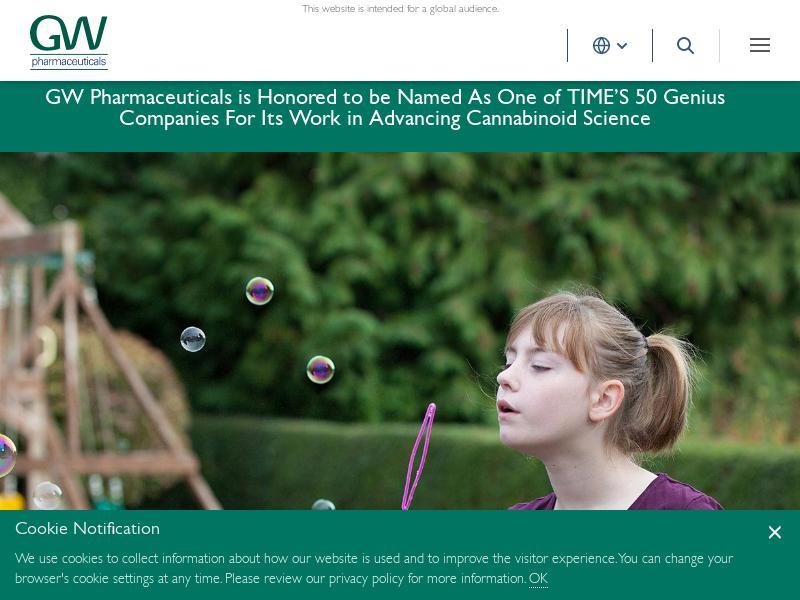 GW Pharmaceuticals plc Soared