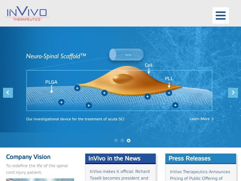 InVivo Therapeutics Holdings Corp. Skyrocketed