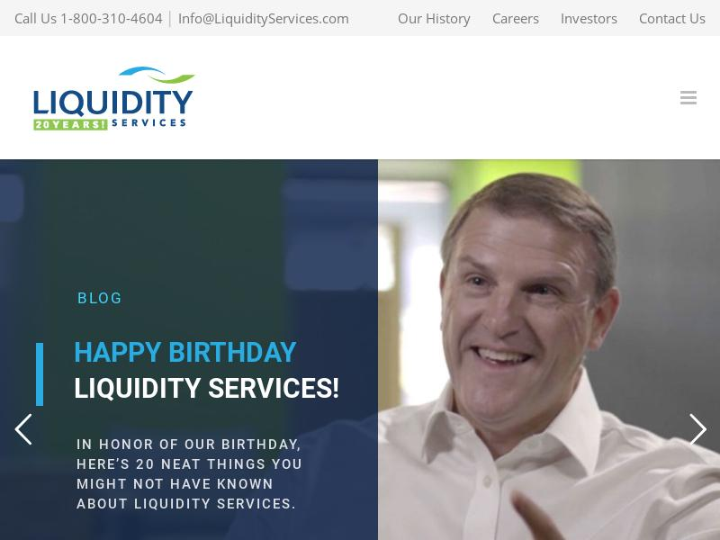 A Day Up For Liquidity Services, Inc.