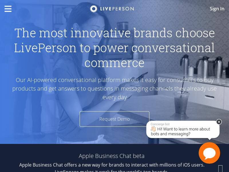 LivePerson, Inc. Soared