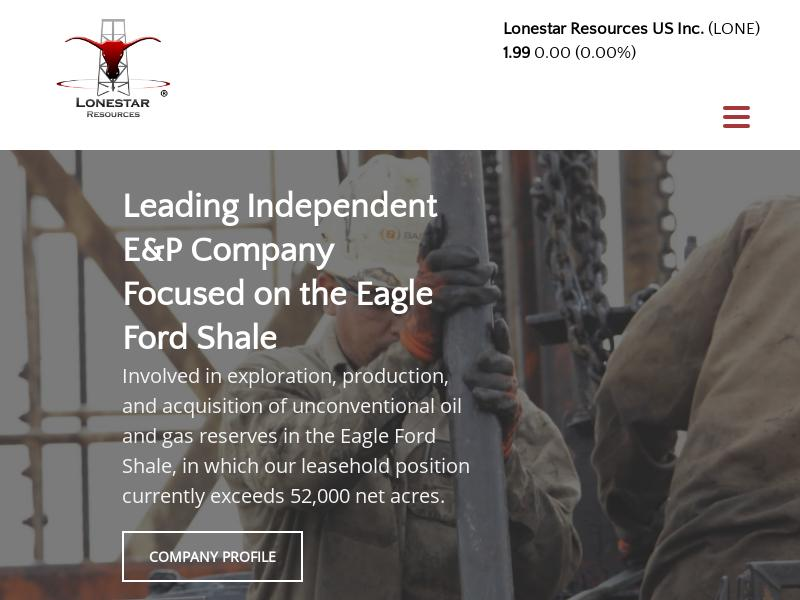 A Day Up For Lonestar Resources US Inc.