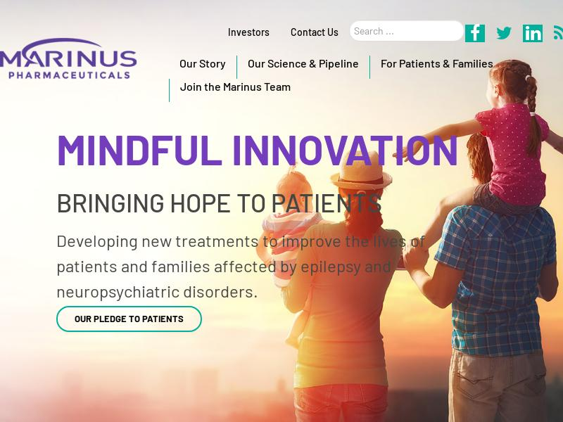 Marinus Pharmaceuticals, Inc. Soared