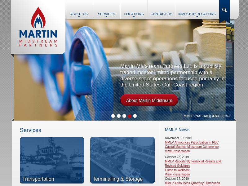 A Day Up For Martin Midstream Partners L.P.