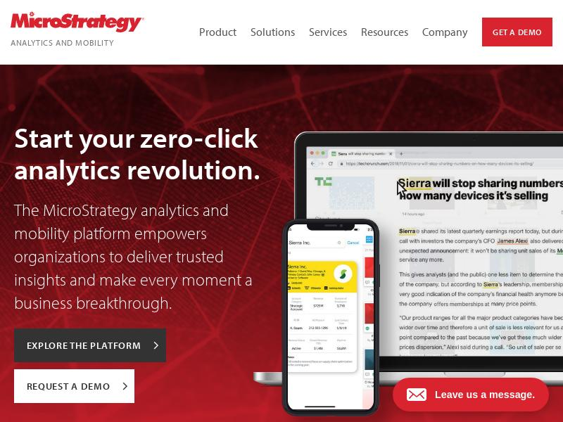 A Day Up For MicroStrategy Incorporated