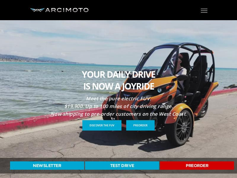 Big Move For Arcimoto, Inc.