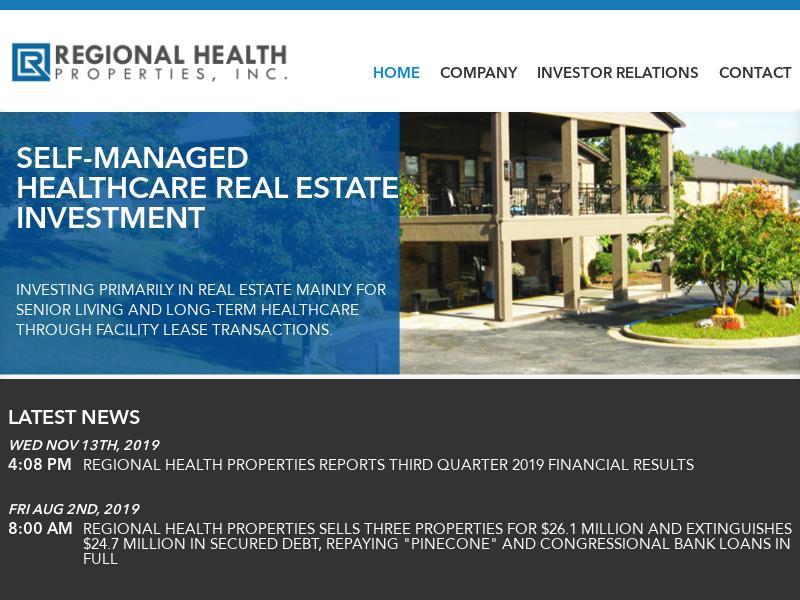 Regional Health Properties, Inc. Made Big Gain