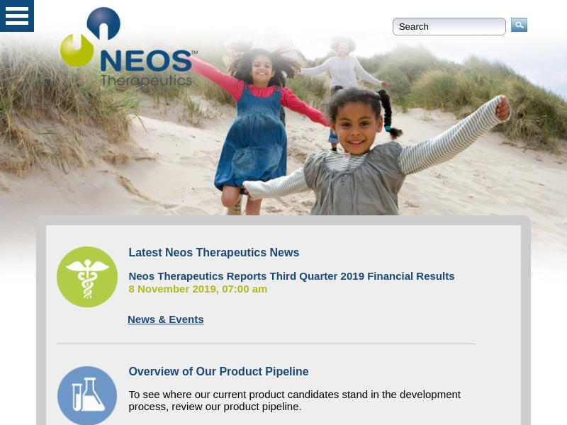 A Day Up For Neos Therapeutics, Inc.