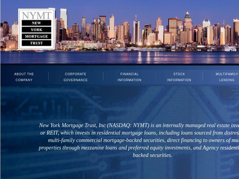 New York Mortgage Trust, Inc. Recorded Big Gain