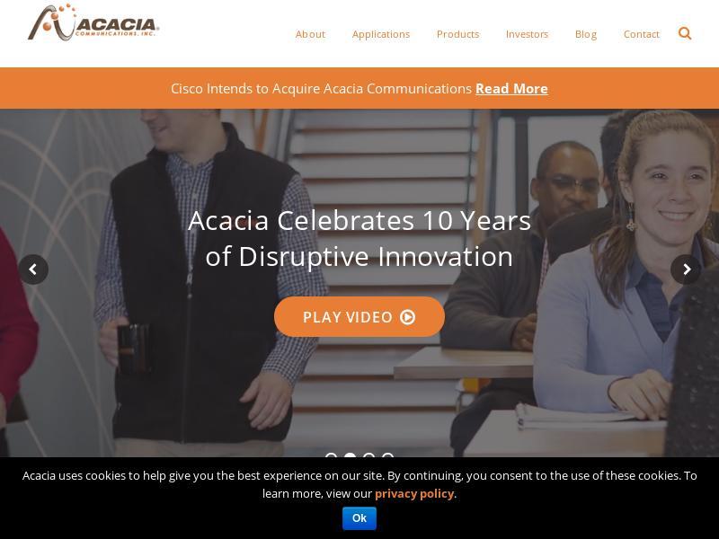 Acacia Communications, Inc. Gains 31.45%