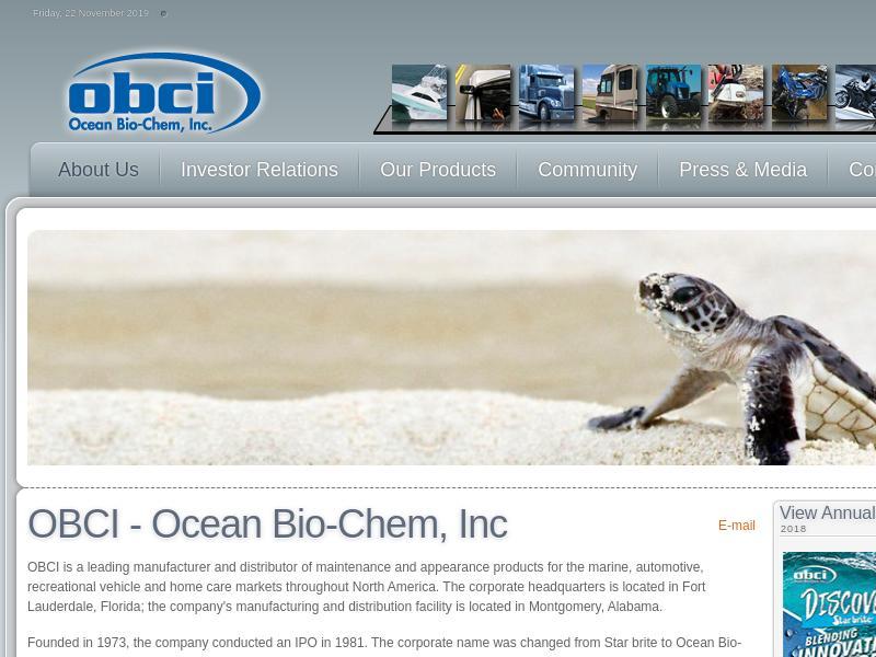 Ocean Bio-Chem, Inc. Gains 39.13%