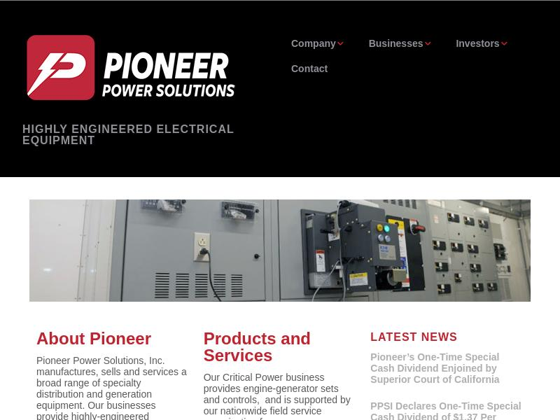 Pioneer Power Solutions, Inc. Gains 45.42%