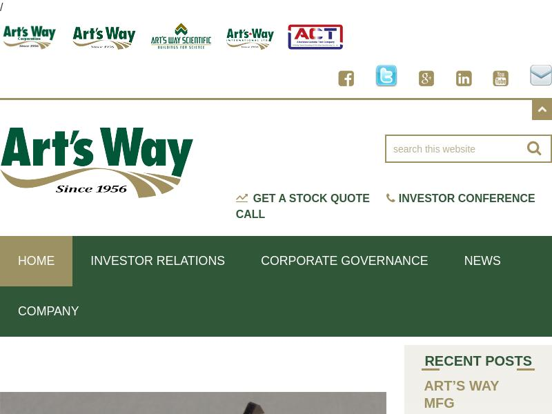 Art's-Way Manufacturing Co., Inc. Recorded Big Gain