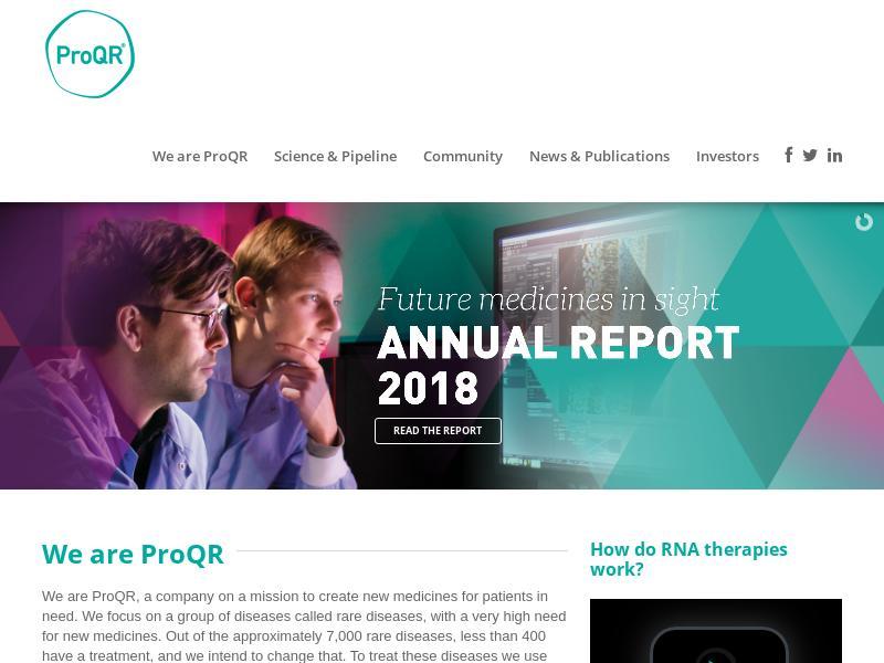 Big Gain For ProQR Therapeutics N.V.