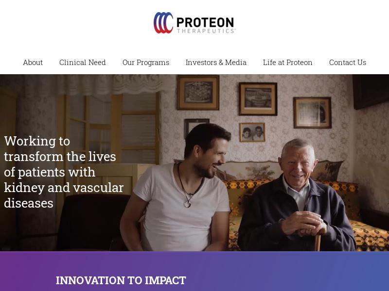 Big Move For Proteon Therapeutics, Inc.