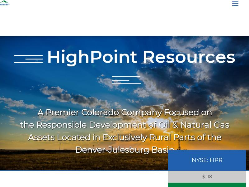 A Day Up For HighPoint Resources Corporation