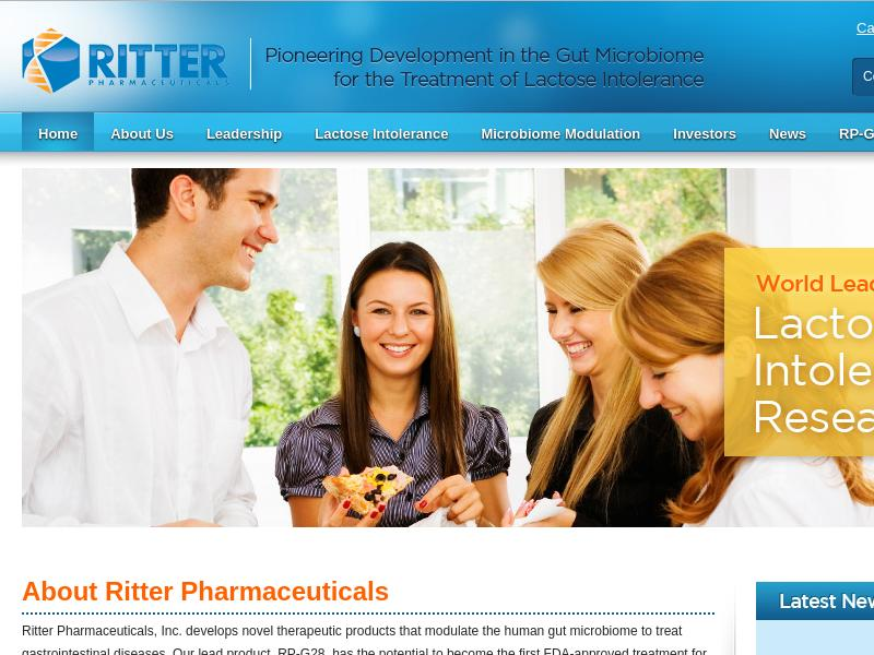 Ritter Pharmaceuticals, Inc. Gains 87.68%