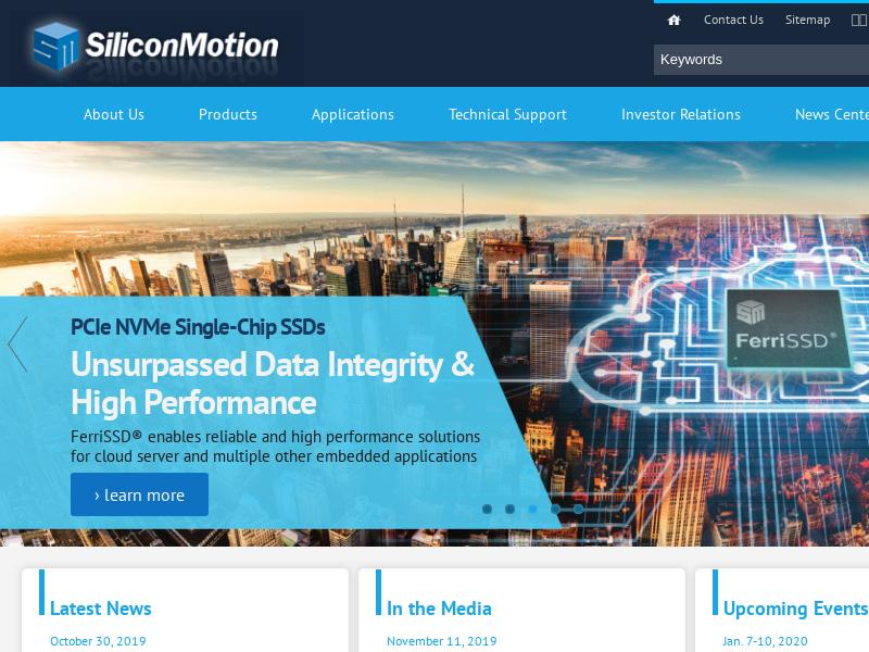 Silicon Motion Technology Corporation Gains 16.63%
