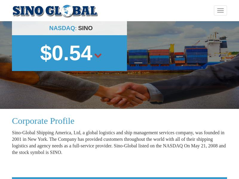 A Win For Sino-Global Shipping America, Ltd.
