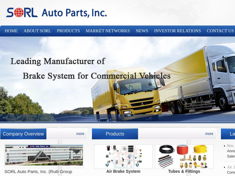 SORL Auto Parts, Inc. Made Headway