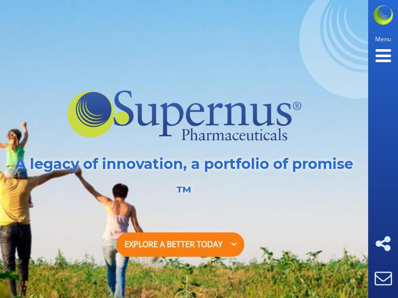 Supernus Pharmaceuticals, Inc. Soared