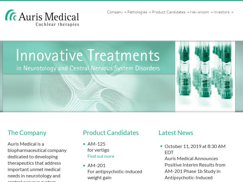 Big Move For Auris Medical Holding Ltd.