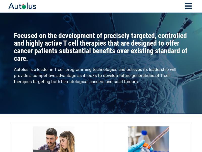 Autolus Therapeutics plc Gains 35.47%