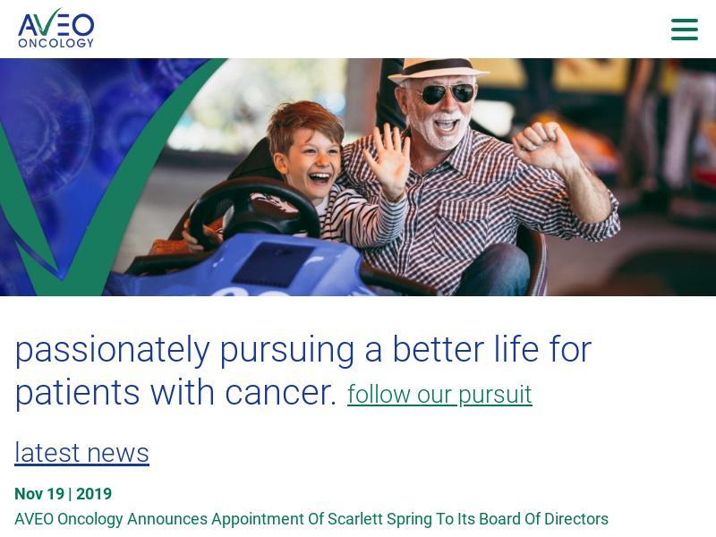 Big Move For AVEO Pharmaceuticals, Inc.
