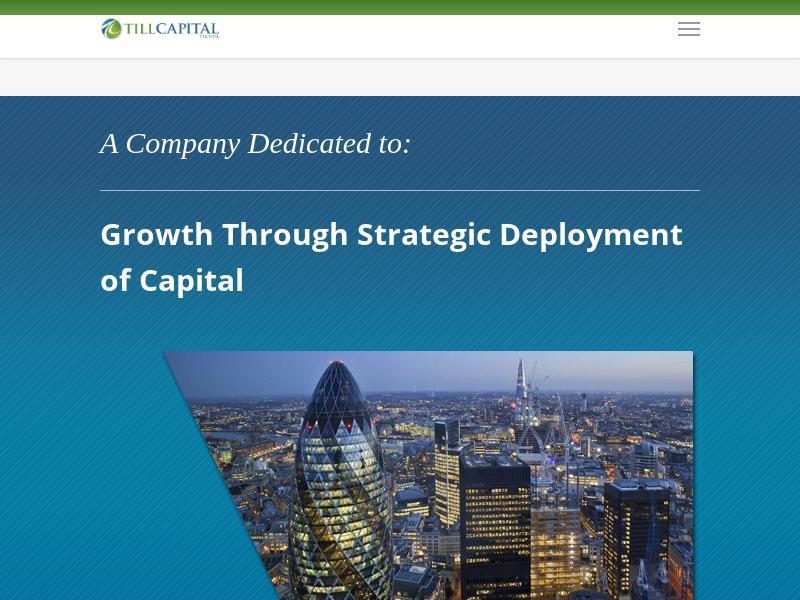 Till Capital Ltd. Made Big Gain