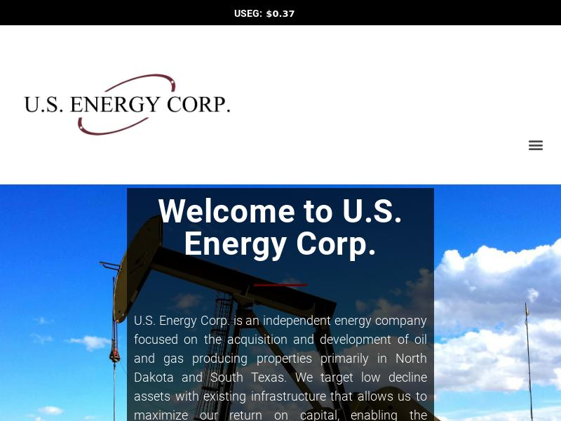 U.S. Energy Corp. Soared