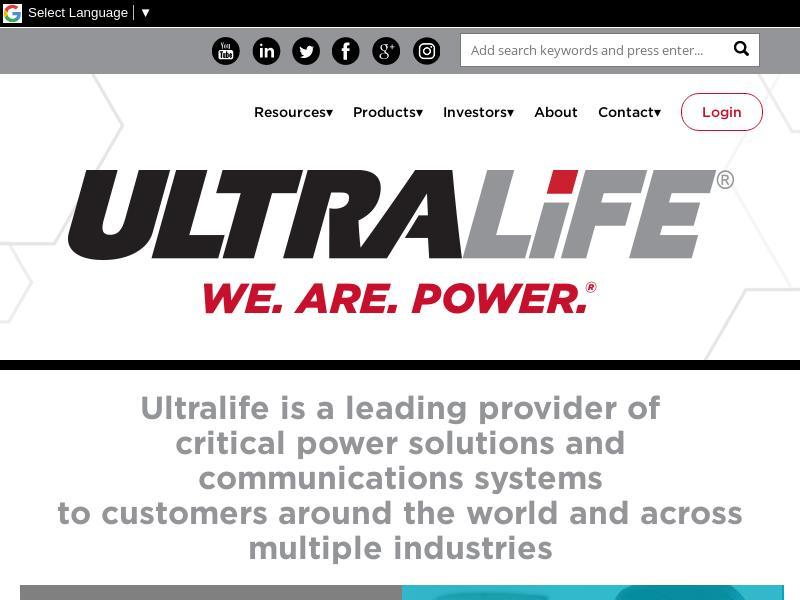 Ultralife Corporation Gains 23.38%