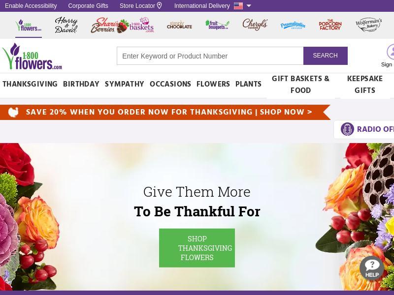 1-800-FLOWERS.COM, Inc. Gains 20.48%