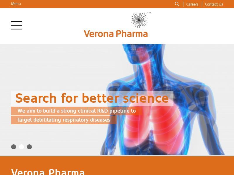 Verona Pharma plc Gains 44.93%