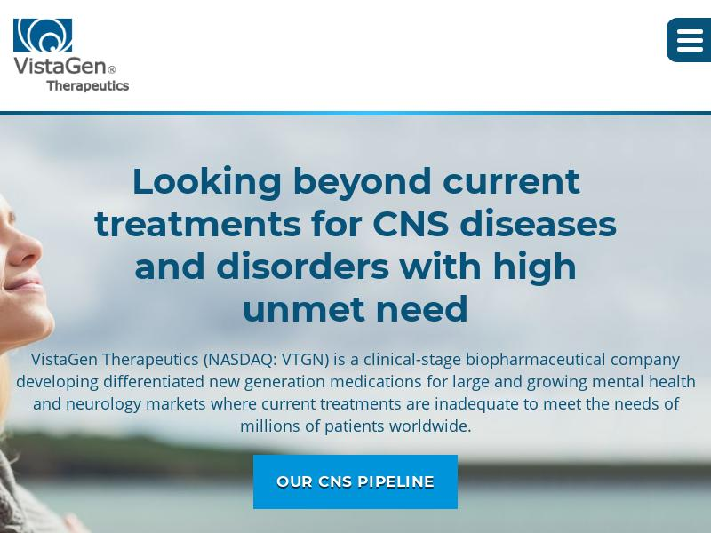 VistaGen Therapeutics, Inc. Soared