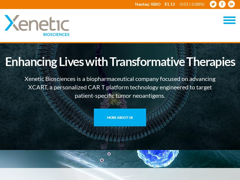 Big Gain For Xenetic Biosciences, Inc.