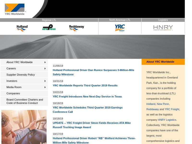 Big Gain For YRC Worldwide Inc.