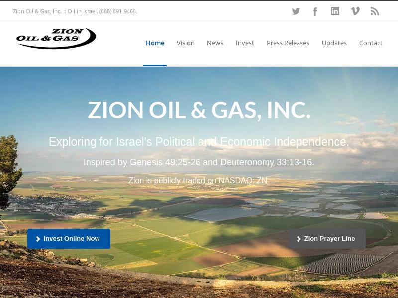 Zion Oil & Gas, Inc. Gains 65.32%