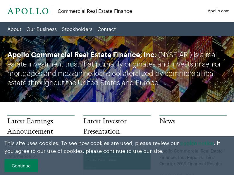 Big Gain For Apollo Commercial Real Estate Finance, Inc.