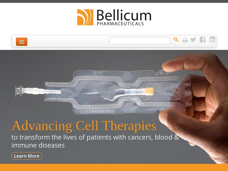 A Day Up For Bellicum Pharmaceuticals, Inc.