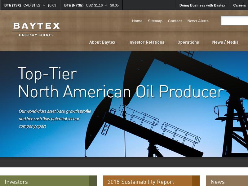 Baytex Energy Corp. Recorded Big Gain
