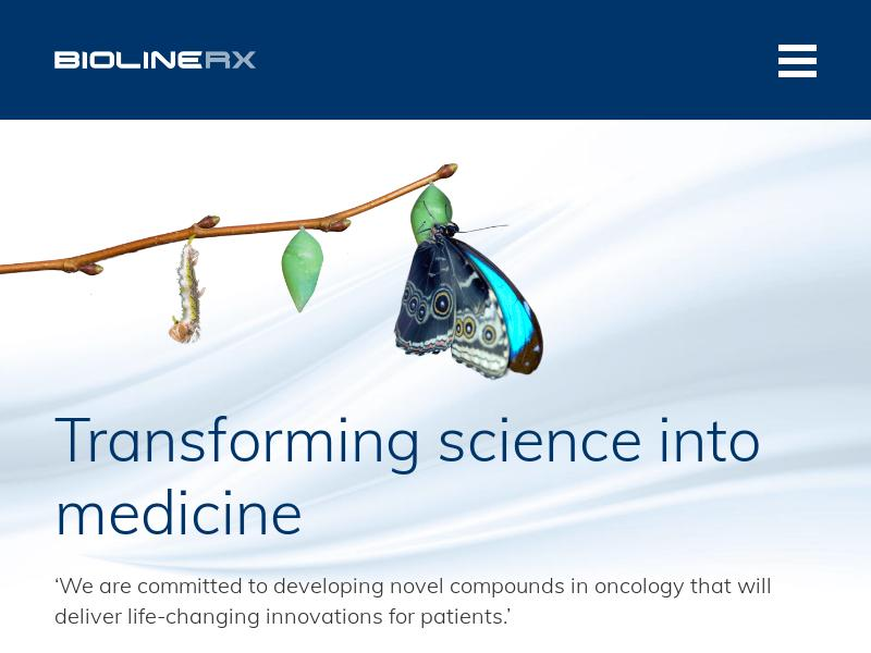 BioLineRx Ltd. Soared