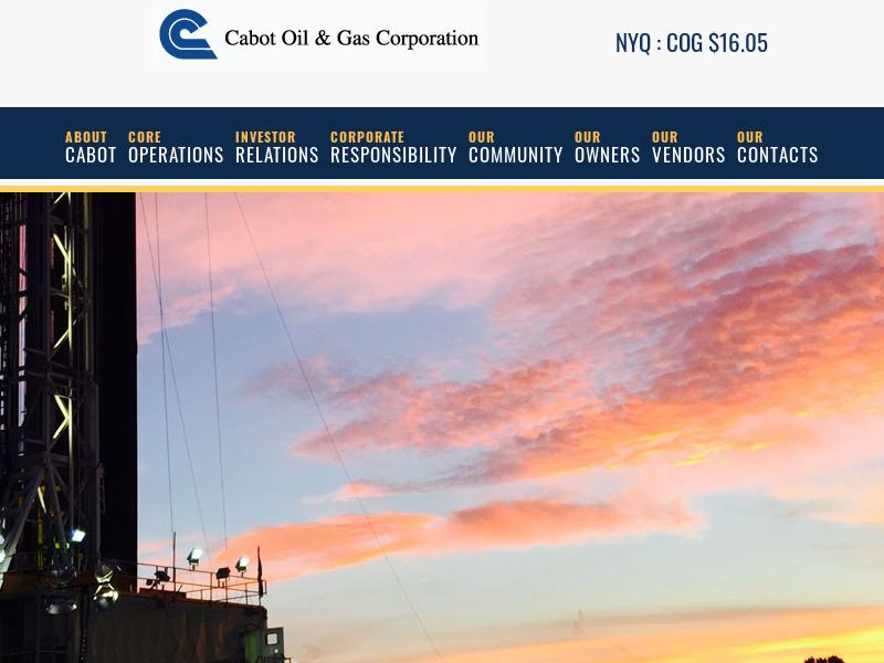 A Win For Cabot Oil & Gas Corporation
