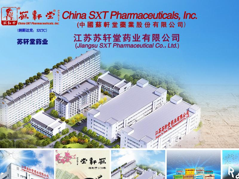 China SXT Pharmaceuticals, Inc. Made Headway