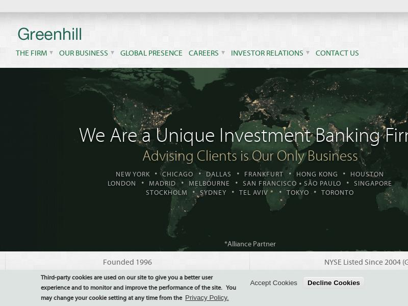 Greenhill & Co., Inc. Made Headway