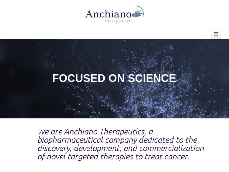 Anchiano Therapeutics Ltd Made Headway