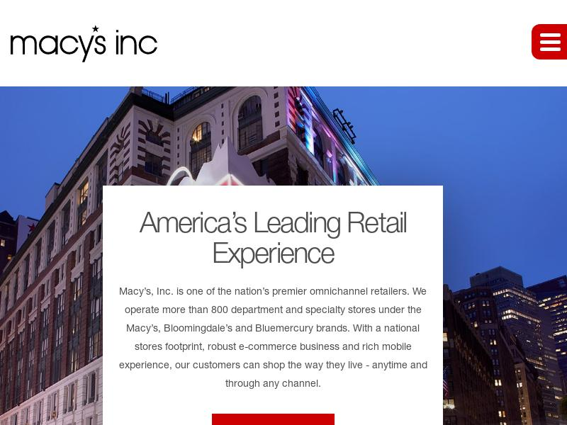 A Day Up For Macy's, Inc.