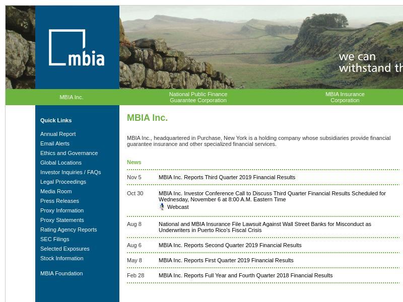 MBIA Inc. Soared