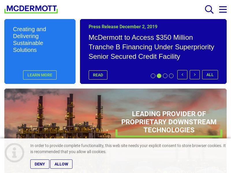Big Move For McDermott International, Inc.